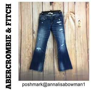 💸Abercrombie&Fitch Distressed Bootcut Jean 2S/26